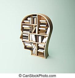 estante, cabeza, forma