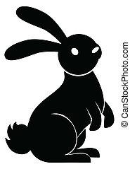 estante, conejo