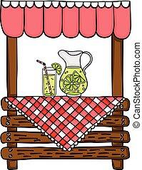 estante, de madera, limonada