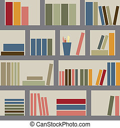 estante libros, seamless