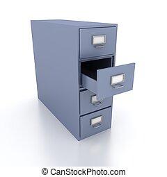 estante, para, documentos