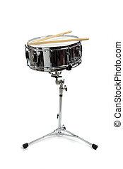 estante, tambor, trampa