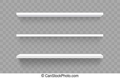 estante, tienda de ventana, blanco, bienes, pared