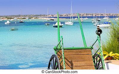 estany des peix in Formentera lake Mediterranean