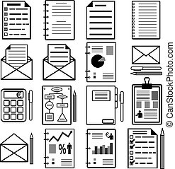 estatísticas, illustration., icons., analytics, vetorial, arquivo