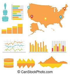 estatísticas, infographics
