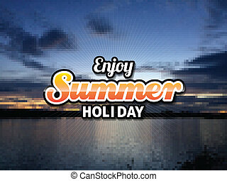 estate, alba, o, tramonto, fondo