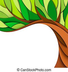 estate, albero, fondo