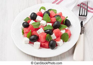 estate, anguria, insalata