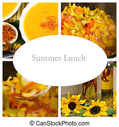 estate, autunno, pranzo, collage, (healthy, naturale, food)