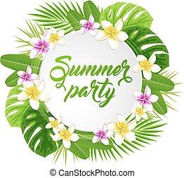 estate, bandiera, festa