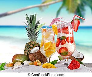estate, bibite, spiaggia