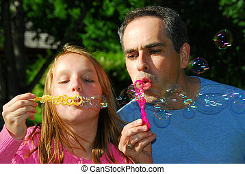 estate, bolle, famiglia