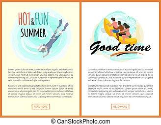 estate, buono, rilassamento, caldo, mare, tempo, ...