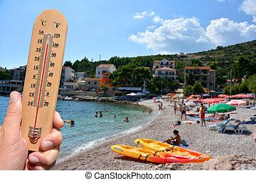 estate, caldo, avvertimento, estremo