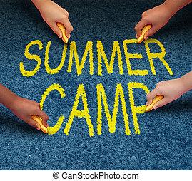 estate, campeggiare