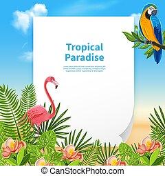 estate, composizione, fondo, paradiso