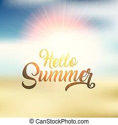 estate, disegno, ciao, fondo, 2304