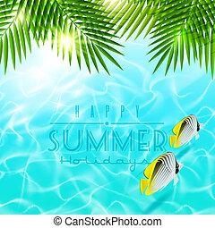 estate, disegno, vettore, vacanza