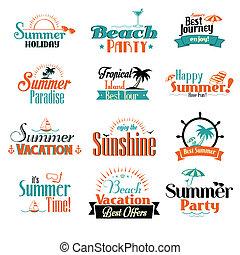 estate, distintivo, retro