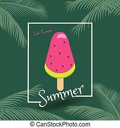 estate, felice, gelato