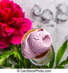 estate, fiore, naturale, dessert, loro, luminoso, bacche