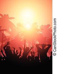 estate, folla, 2006, fondo, festa, paesaggio