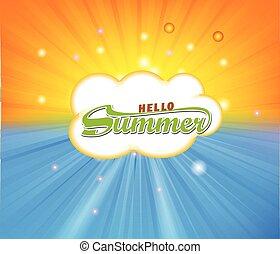 estate, fondo, tempo