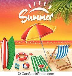 estate, fondo, vacanze