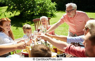 estate, giardino, partito famiglia, o, celebrazione