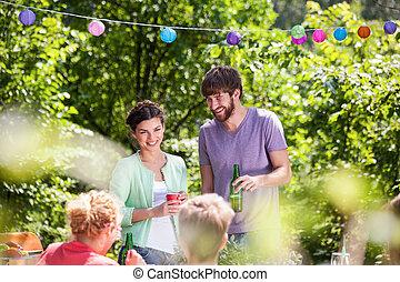 estate, godere, persone, festa
