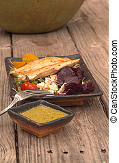estate, insalata pollo