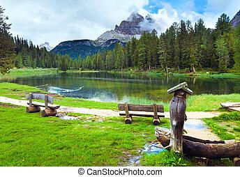 estate, lago alpino, vista