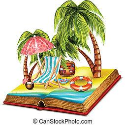 estate, libro, aperto