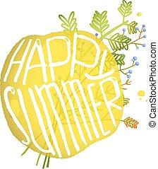 estate, luminoso, bolla, cerchio, giallo