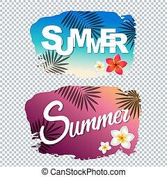 estate, macchia, testo