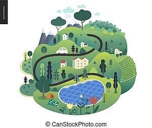 estate, magico, landcape