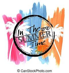 estate, manifesto, carta da parati, invito, sagoma, tempo, divertimento, bandiera parte