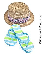 estate, moda, concetto, con, spiaggia, h