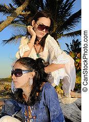 estate, moda, ragazze
