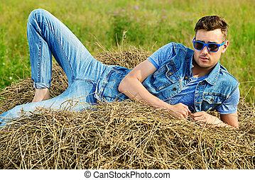 estate, moda, uomo