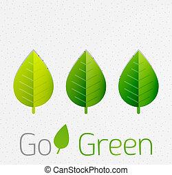 estate, natura, primavera, foglie, /, sfondo verde