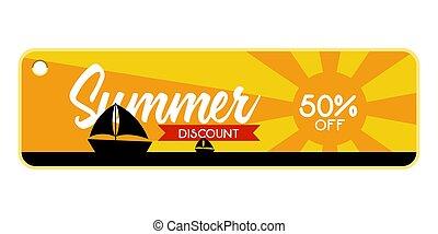 estate, nave, vendita, mare, etichetta