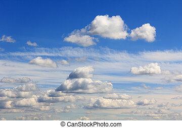 estate, nubi bianche