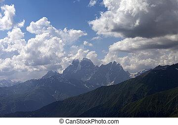 estate, nubi, montagne