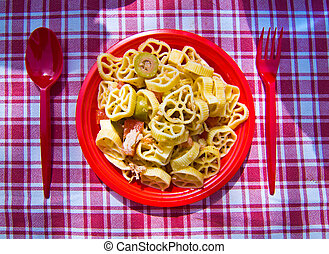estate, ogive, tonno, origano, pasta, pomodoro