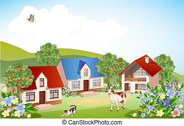 estate, paesaggio, rurale