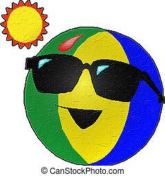 estate, palla