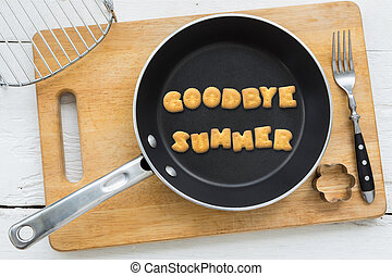 estate, parola, biscotto, arrivederci, frittura, biscotti, pan