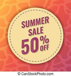 estate, percento, vendita, 50